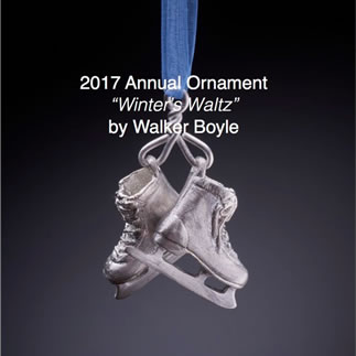 2017 Annual Ornament available at Littleton League on NH Craftsmen Gallery. Corporate gift holiday gift