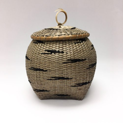 "Basket handwoven by award winning craftsperson Sharon Dugan titled ""Migration"""