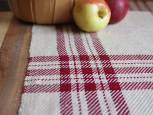 Handweaver Kate Kilgus weaves beautiful hand towels and available at the Littleton Gallery 81 Main St Littleton NH